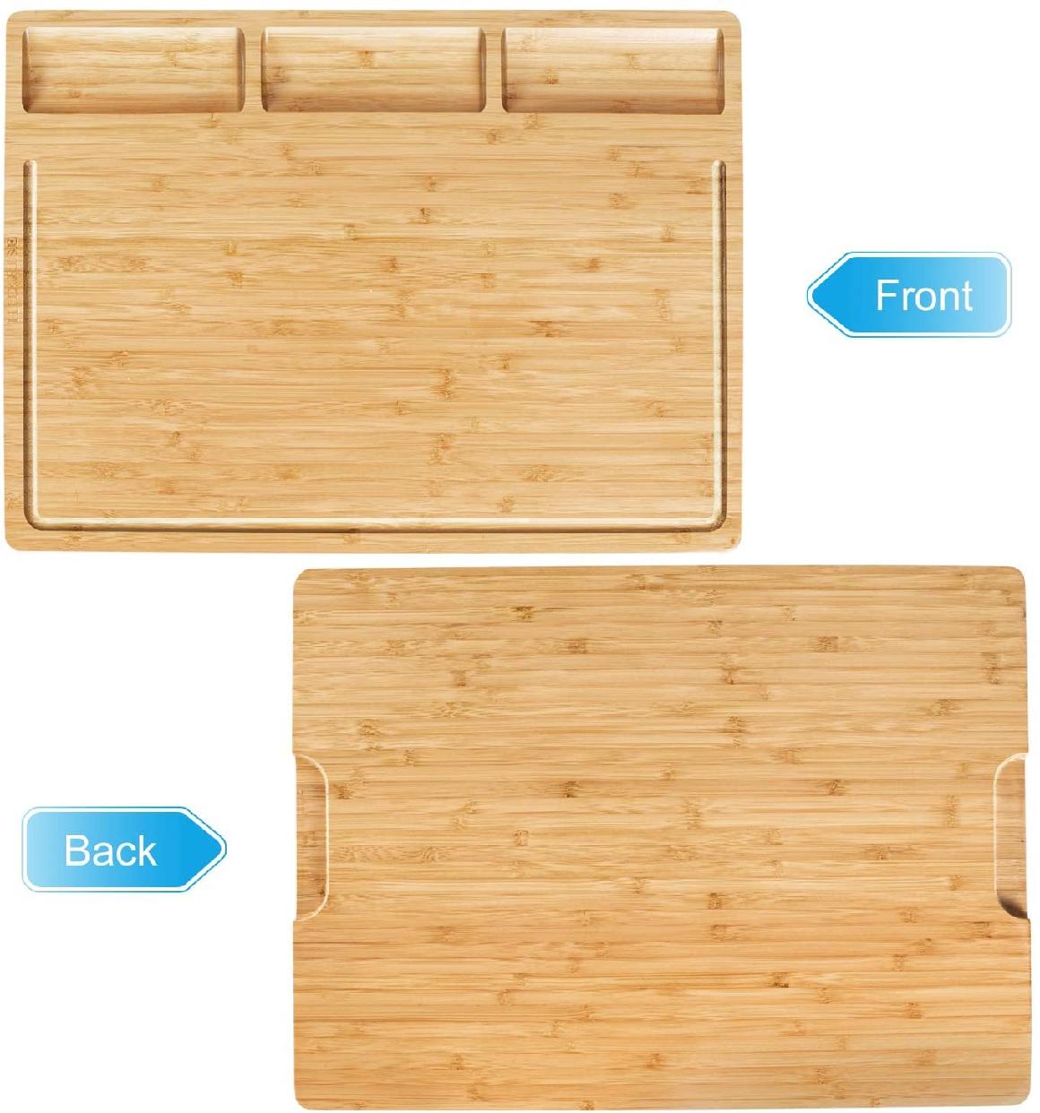 HHXRISE(エイチエイチエックすライズ) 大きいまな板 竹製 トレイ付き L ナチュラルの商品画像3