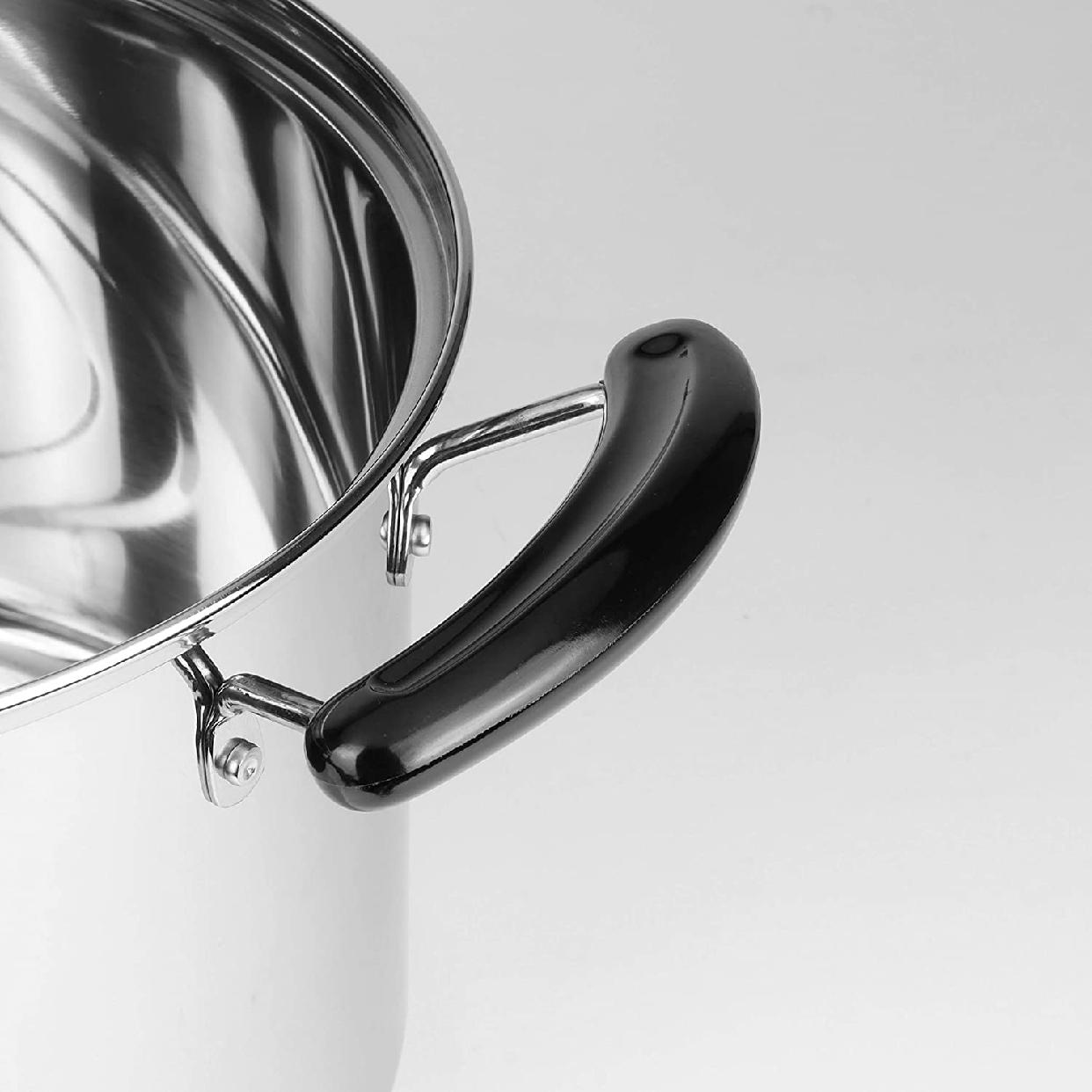 ニューダンランステンレス製ガラス蓋付兼用鍋22cm H-5872の商品画像8