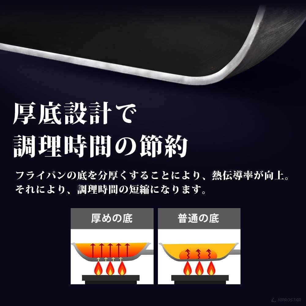 KIPROSTAR(キプロスター) アルミフライパン(表面テフロン加工)の商品画像7