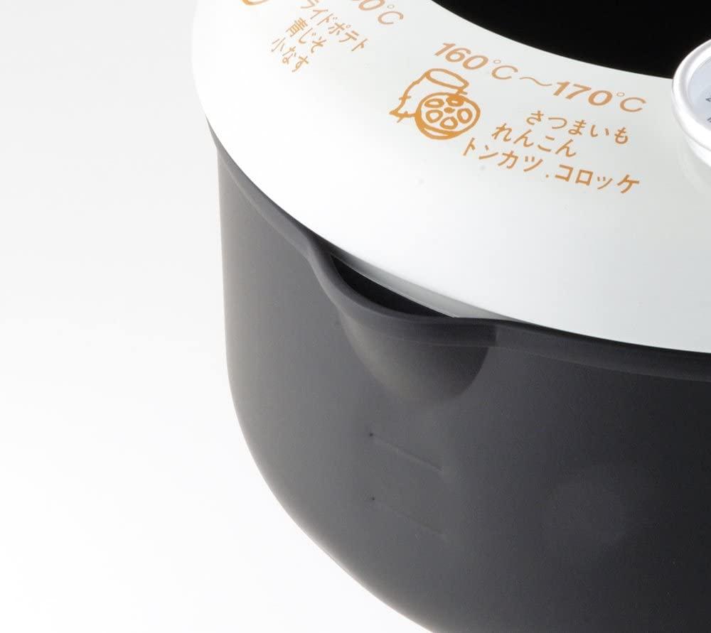 ヨシカワあげた亭 温度計付き天ぷら鍋20cm ブラック SH9257の商品画像3
