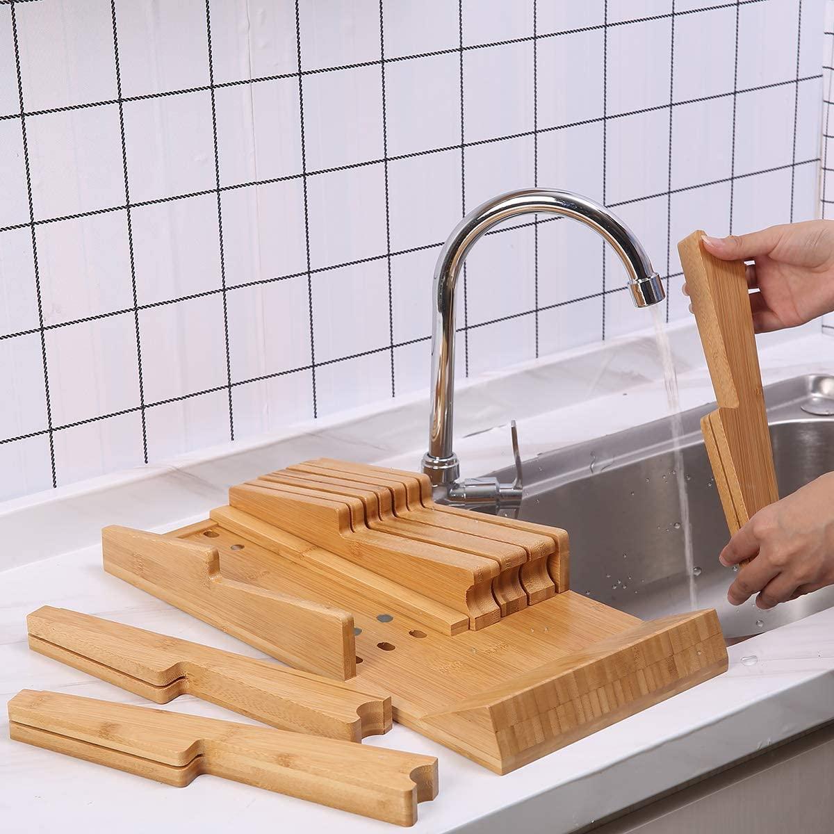 HHXRISE 包丁スタンド 竹製 ブラウンの商品画像5