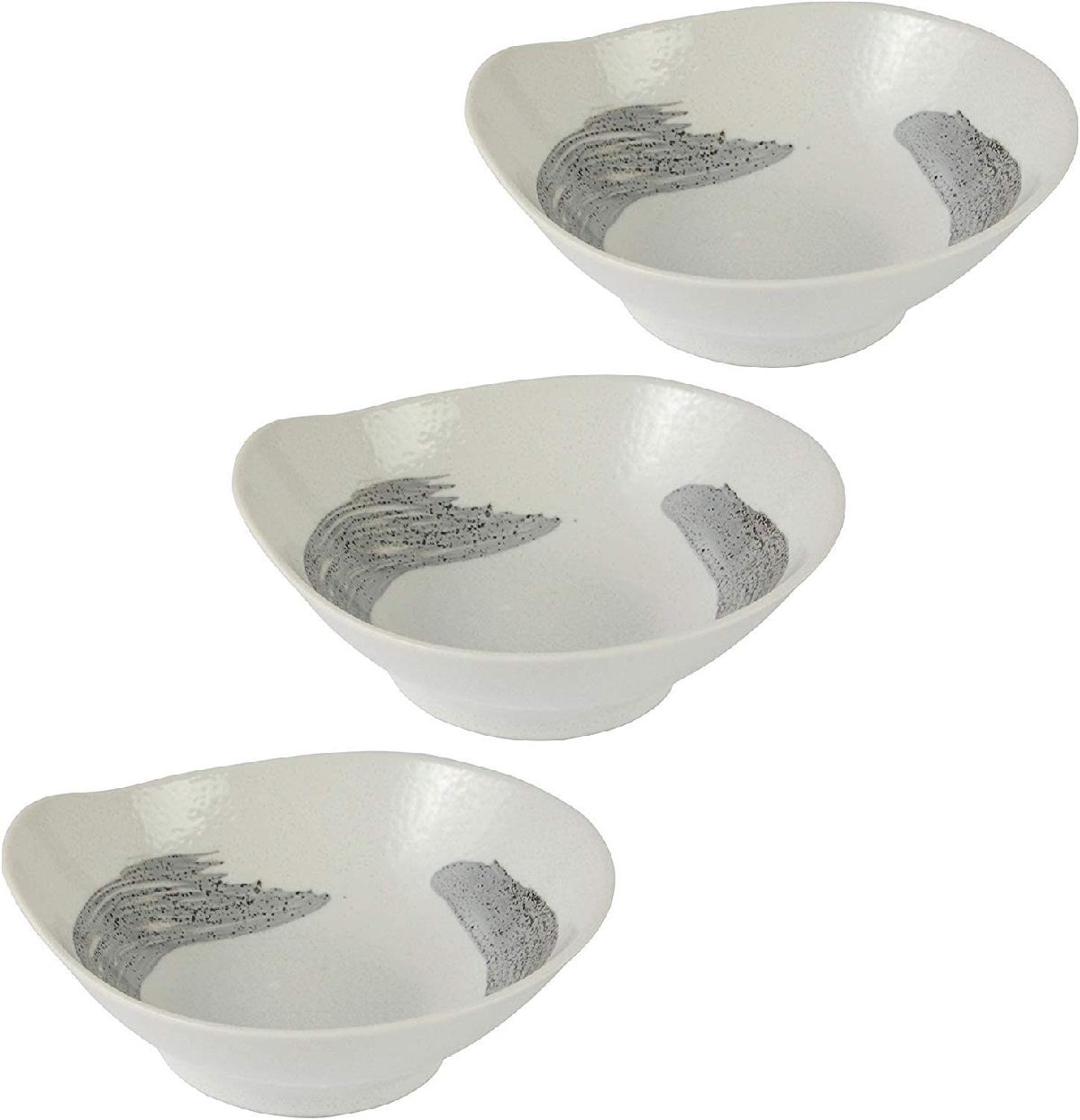 みのる陶器(ミノルトウキ) 美濃焼 粉引刷毛目 とんすい 3個セットの商品画像
