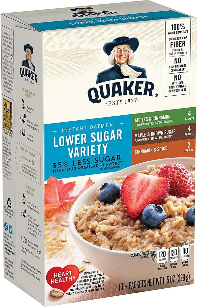Quaker(クエーカー) イスタントオートミール 砂糖お抑えたフレーバーバラエティーパックの商品画像