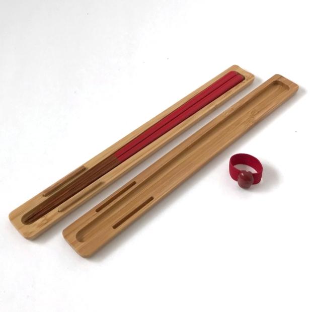 公長齋小菅(コウチョウサイコスガ) みやび箸ケースセット S 赤の商品画像2