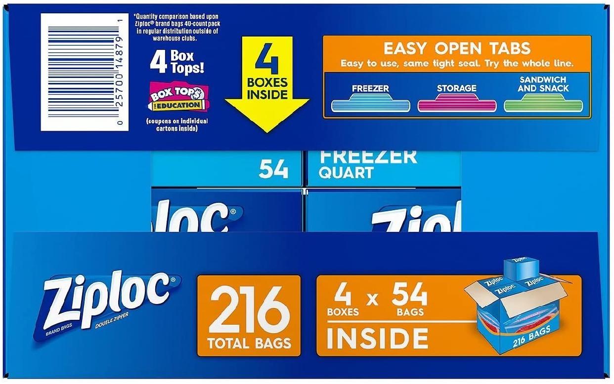 Ziploc(ジップロック) ダブルジッパー フリーザー用バッグの商品画像3