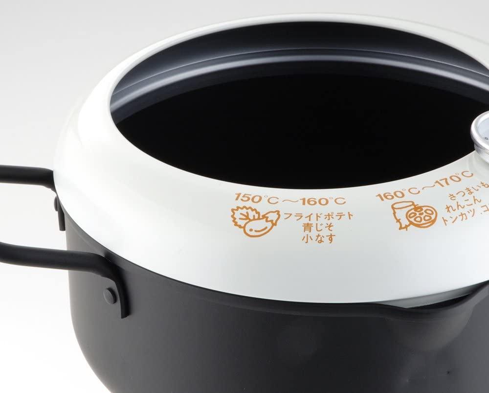 YOSHIKAWA(ヨシカワ) あげた亭 温度計付き天ぷら鍋20cm ブラック SH9257の商品画像2