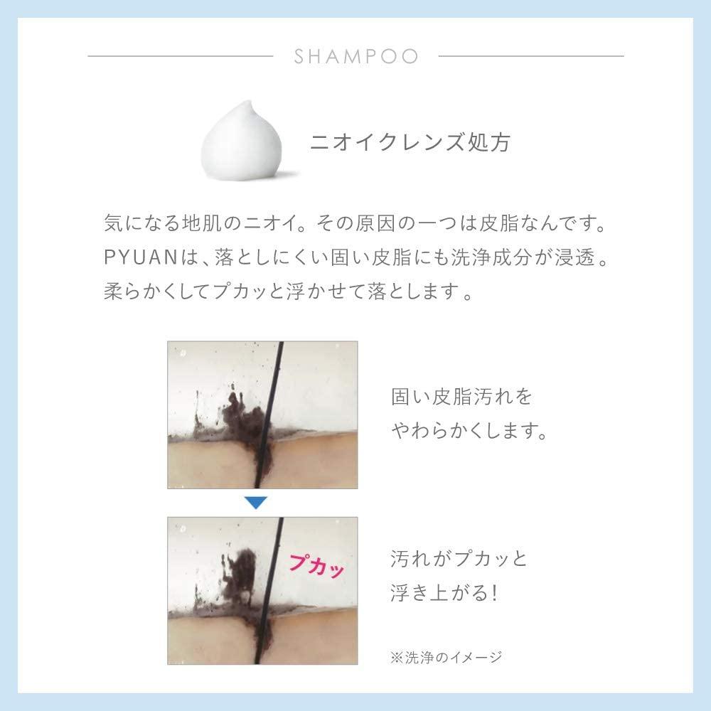 merit PYUAN(メリット ピュアン) ポンプペア シャンプー + コンディショナーの商品画像4