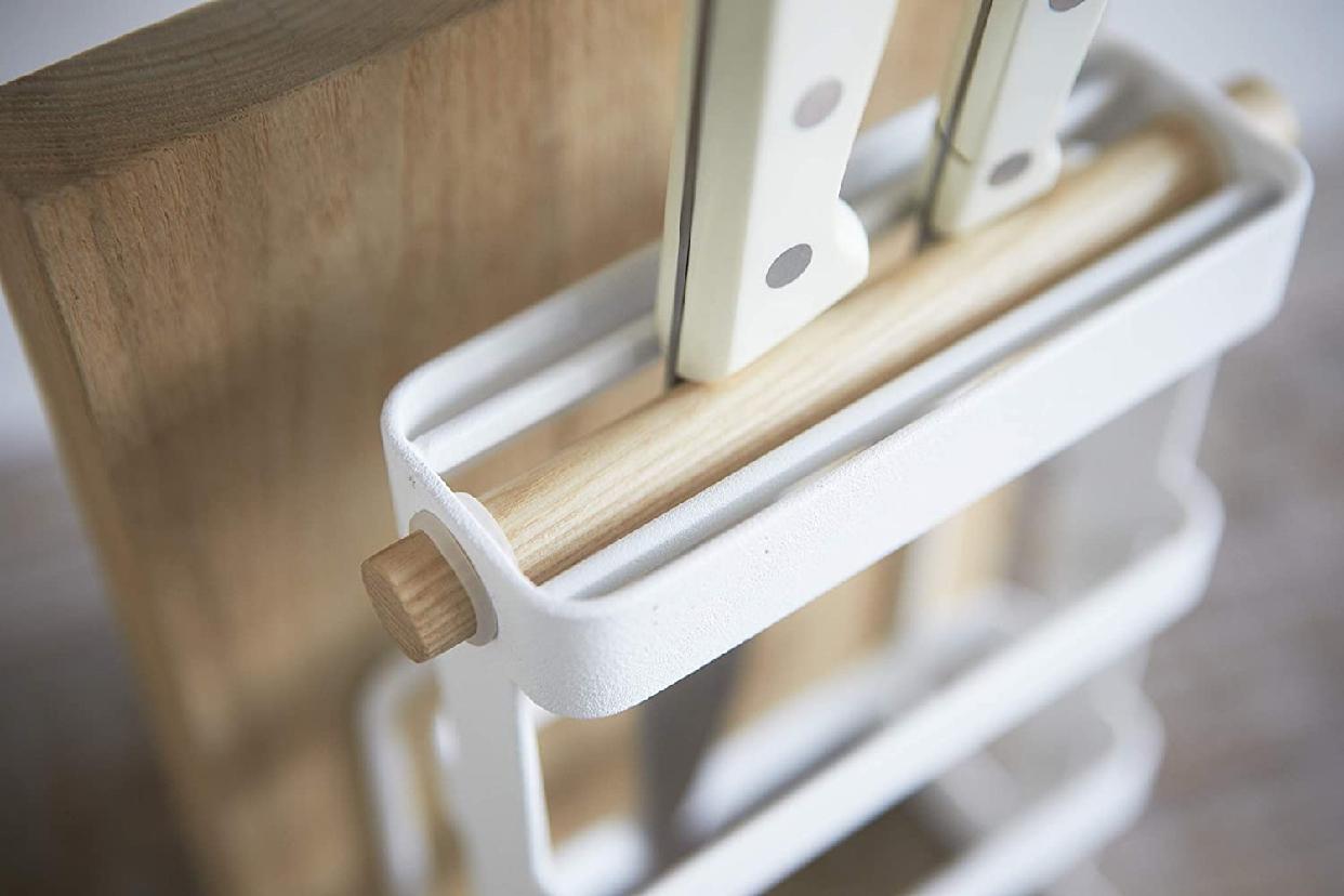 山崎実業(Yamazaki) 包丁&まな板スタンド トスカ ホワイト 2421の商品画像4