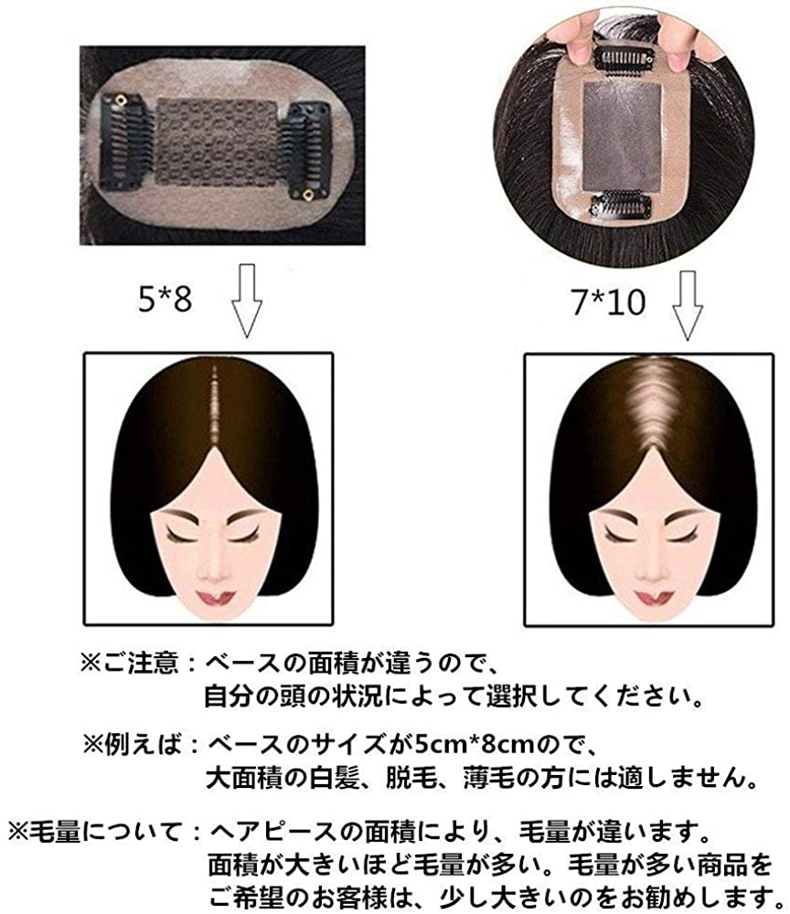 AISIHAIR(アイシヘアー) 部分用ウィッグ ストレートヘアーの商品画像5