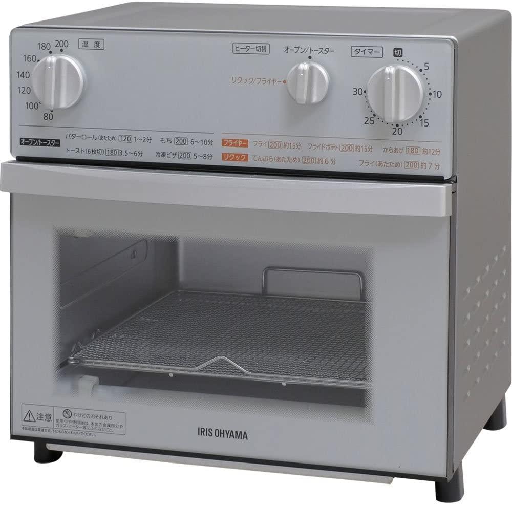 IRIS OHYAMA(アイリスオーヤマ)ノンフライ熱風オーブン FVX-D3B-S シルバーの商品画像