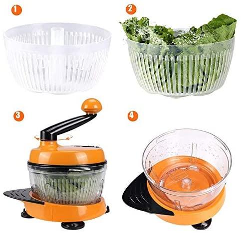 LULAA(ルルア)みじん切り器 多機能スライサー チョッパー 改良版 オレンジの商品画像5