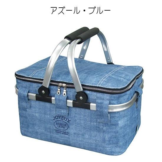 At First(アットファースト)保冷バスケット Lサイズ クーラーバッグ アルミフレーム ピクニック アズールブルーの商品画像8
