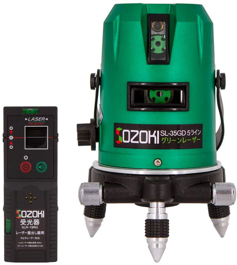 SOZOKI(ソゾキ) 5ライングリーンレーザー墨出し器 SL-35GD