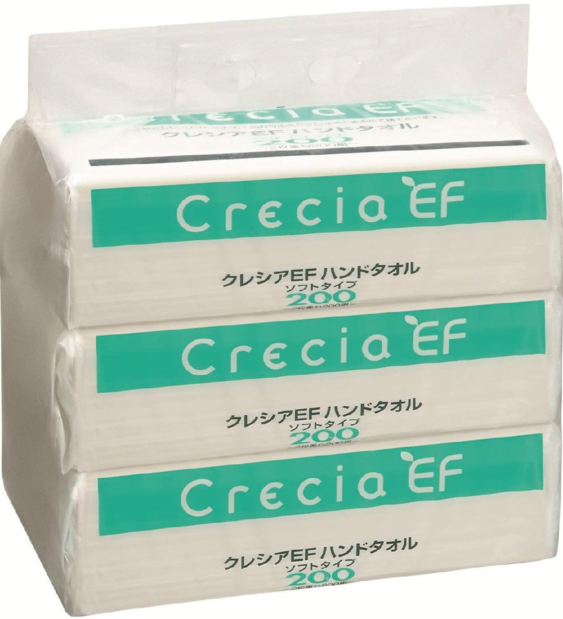 Crecia EF(クレシアEF) ハンドタオル ソフトタイプ200 200組(400枚)×3P 37005の商品画像