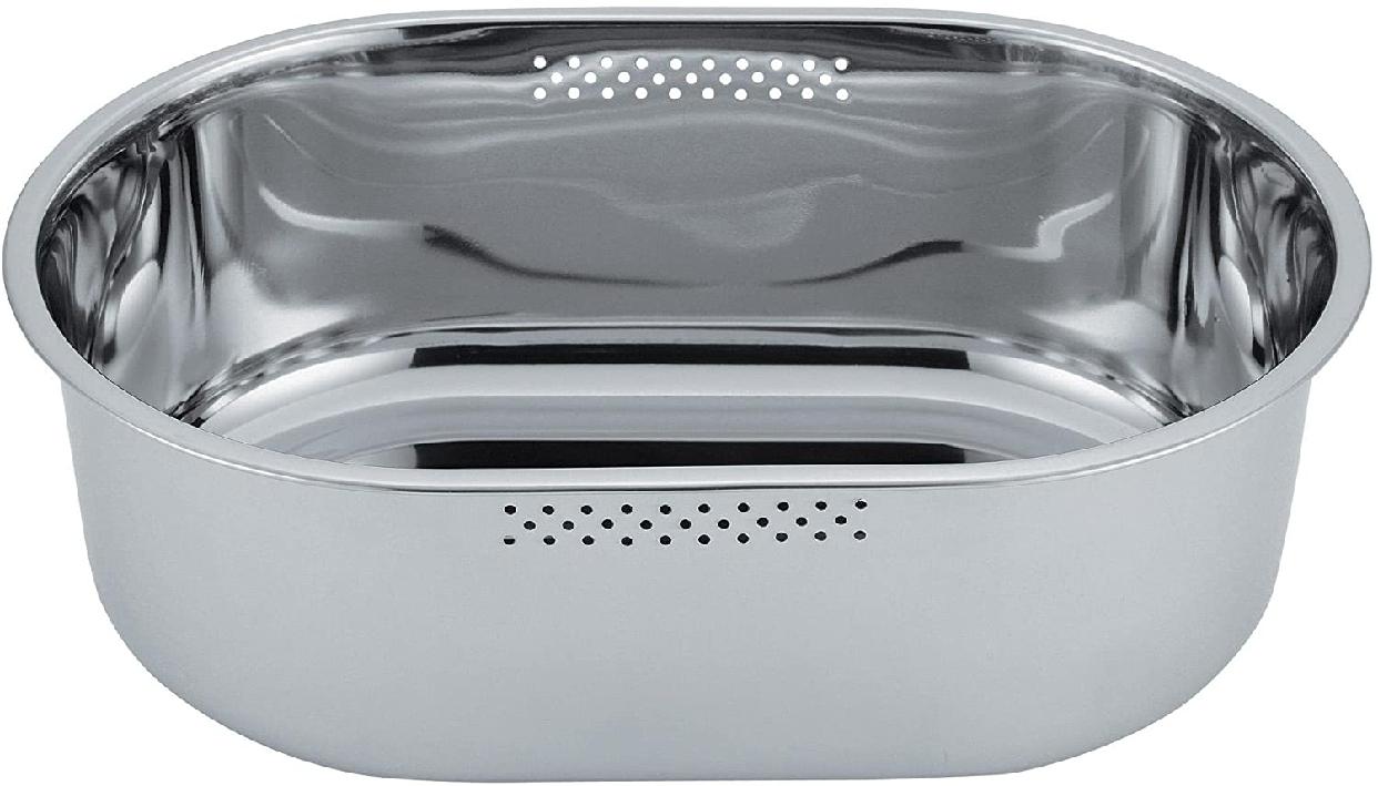 NEW COOKDAY(ニュークックデイ) 小判型洗い桶(ゴム脚付) DF1489 ステンレスの商品画像