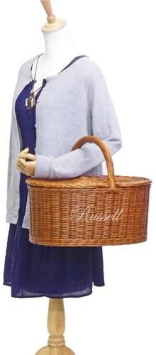 ラッセル籐かご・ラタンバスケット・ピクニック ブラウン 621の商品画像7
