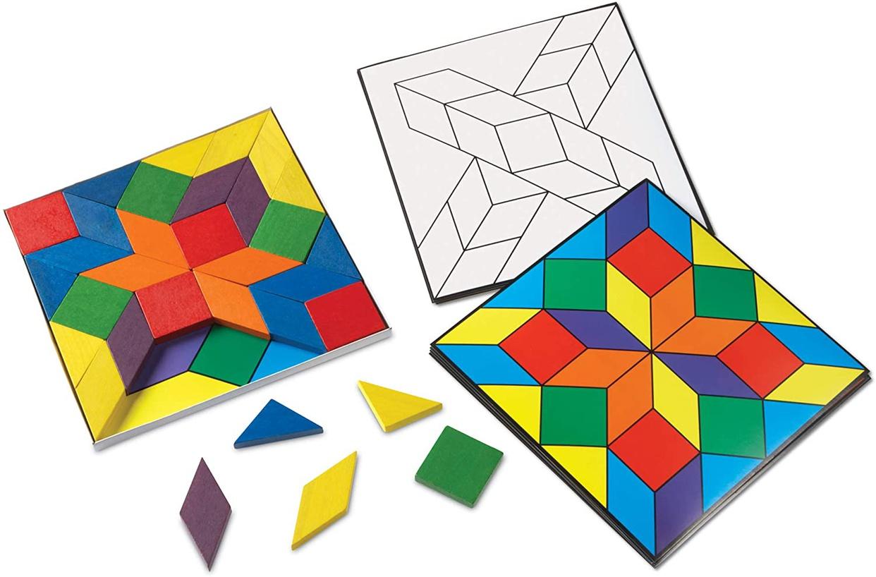 Learning Resources(ラーニングリソーシズ) Parquetry Blocks Super Set LER0289の商品画像3