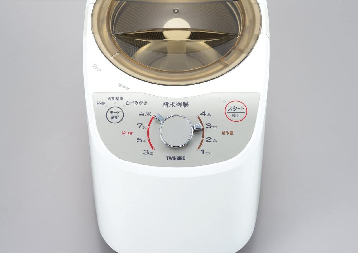 TWINBIRD(ツインバード)コンパクト精米器 精米御膳 MR-E520W ホワイトの商品画像9