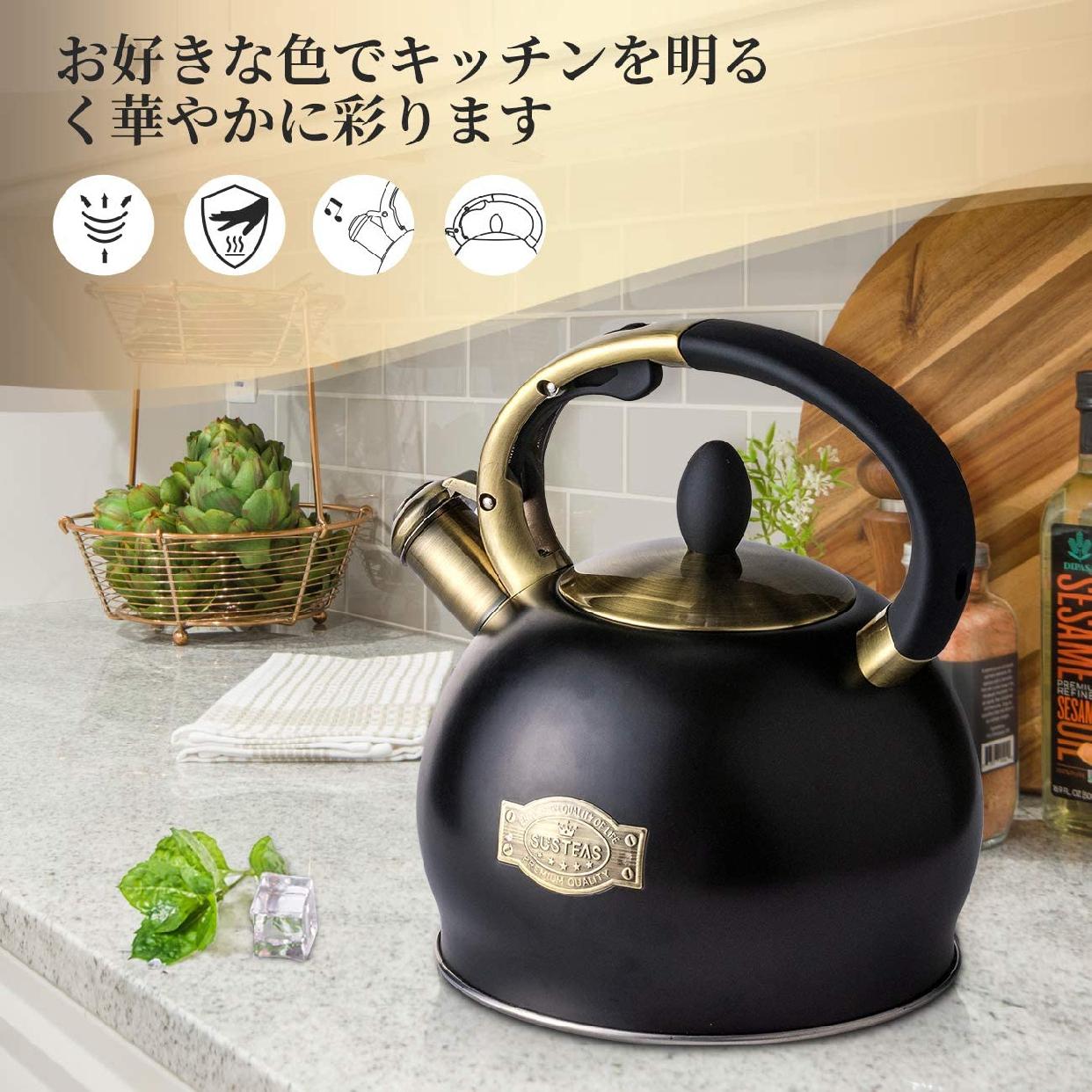 SUSTEAS(サスティーズ) 笛吹きケトル 2.5Lの商品画像7