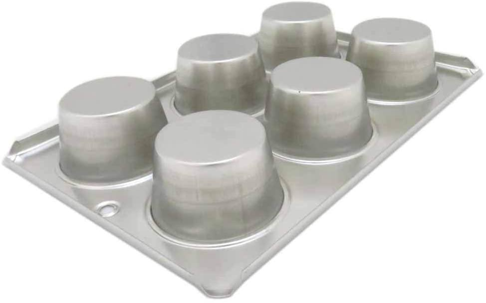 TKG(ティーケージー)ブリキ マフィン型  #10カップ 6ヶ付 WMH-23 シルバーの商品画像3