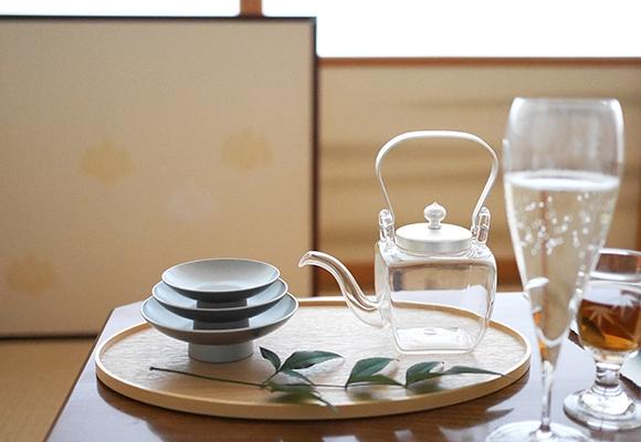 OJIGI TOKYO(オジギ トウキョウ)白木盆 シルバー 屠蘇器揃 化粧箱入りの商品画像7