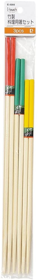 パール金属(PEARL) i.touch 竹製料理用箸セット C-3355 27cm/30cm/33cmの商品画像
