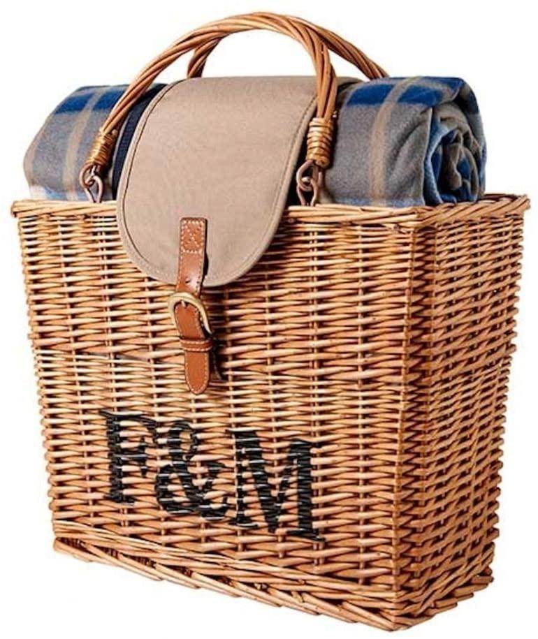 Fortnum & Mason(フォートナム&メイソン)ピクニックラグ付き保冷バスケット ブラウンの商品画像3