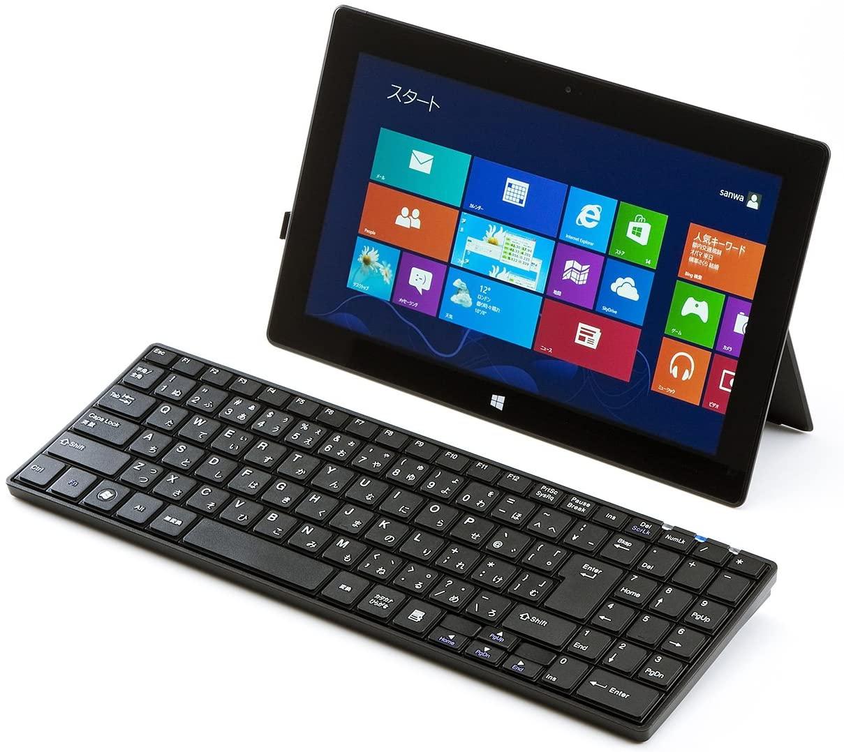 SANWA SUPPLY(サンワサプライ) Bluetoothスリムキーボード SKB-BT22BKの商品画像8