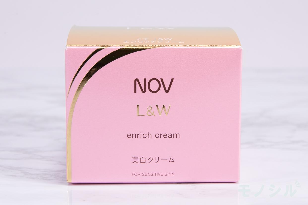 NOV(ノブ)L&W エンリッチクリームの商品外箱の画像