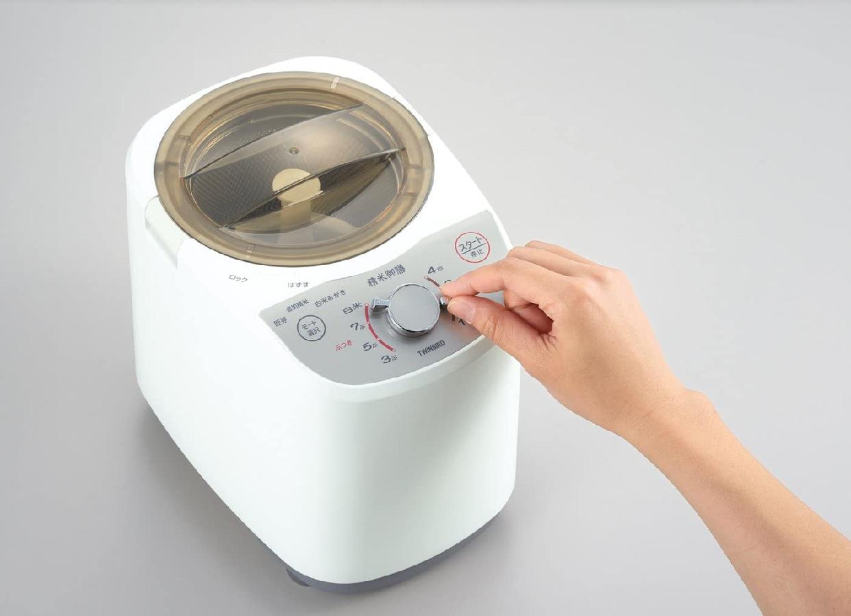 TWINBIRD(ツインバード)コンパクト精米器 精米御膳 MR-E520W ホワイトの商品画像2