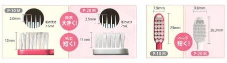 ruscello(ルシェロ)歯ブラシ P-20 M ピセラの商品画像2