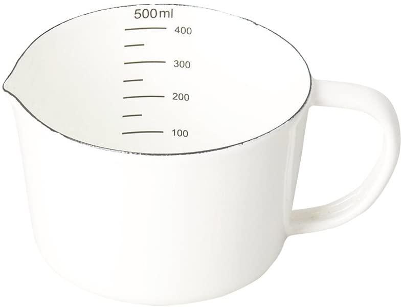 パール金属(PEARL) ブランキッチン ホーローメジャーカップ 500ml HB-3682の商品画像