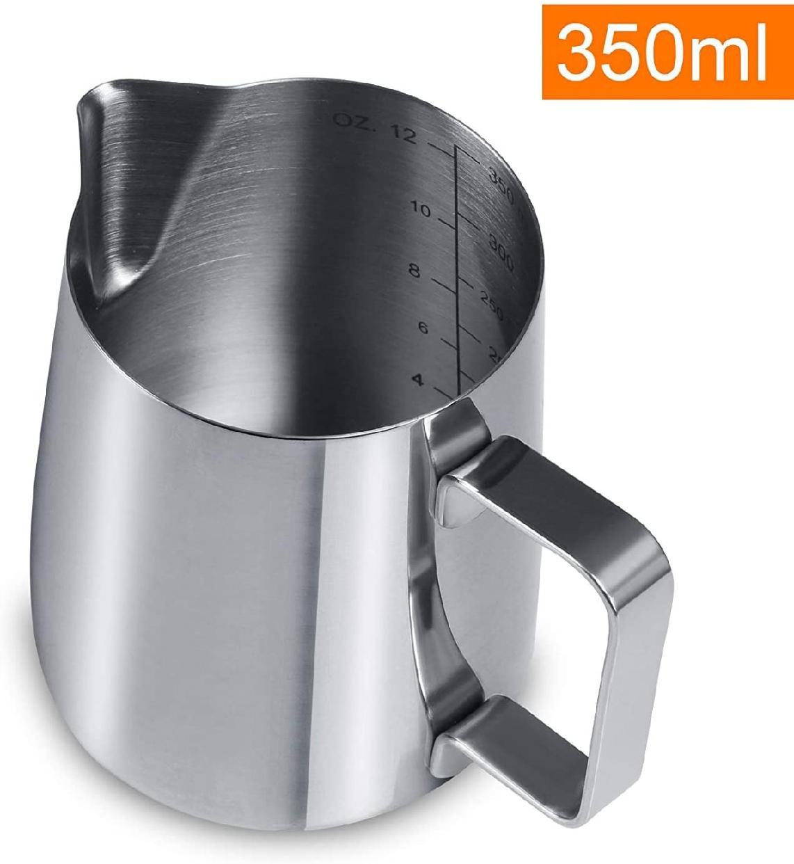 GWHOLE(ジホール)ミルクピッチャー ステンレス製 350ml シルバーの商品画像3