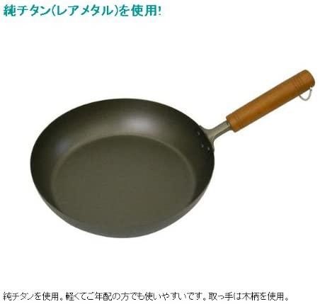 長谷元 純チタン 木柄フライパンの商品画像2