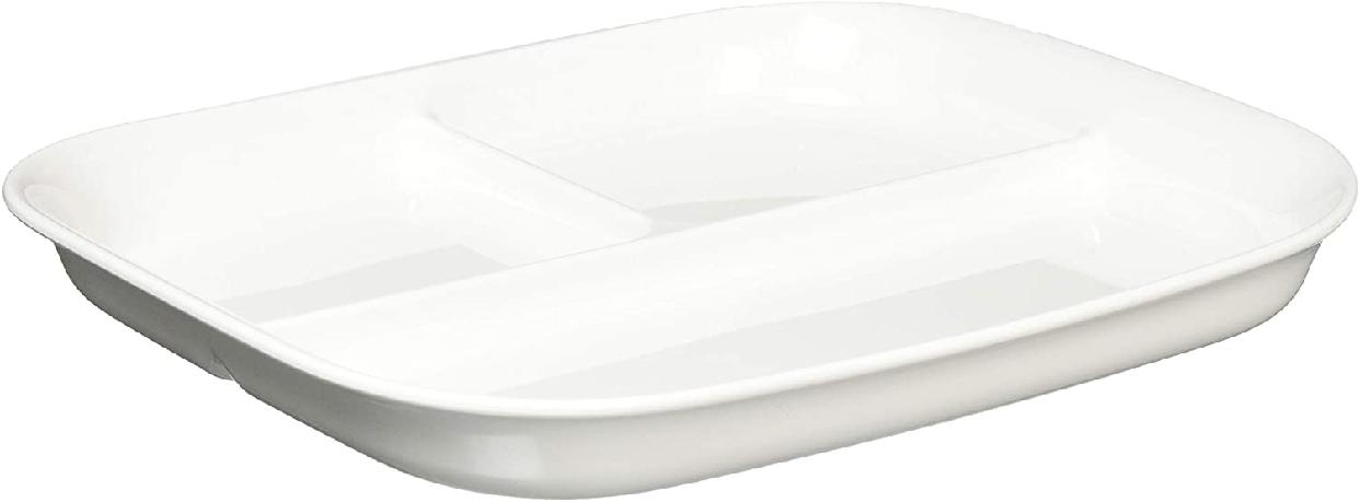 パール金属(パールキンゾク)あつかいやすい仕切付スクエアプレート(ホワイト) K-6388の商品画像2