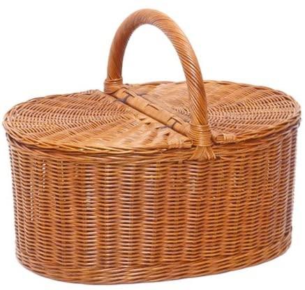ラッセル籐かご・ラタンバスケット・ピクニック ブラウン 621の商品画像