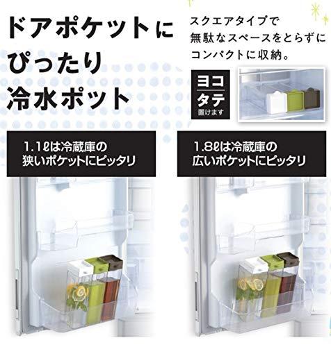パール金属(PEARL) ドアポケットにぴったり 冷水ポット HB-5781の商品画像4
