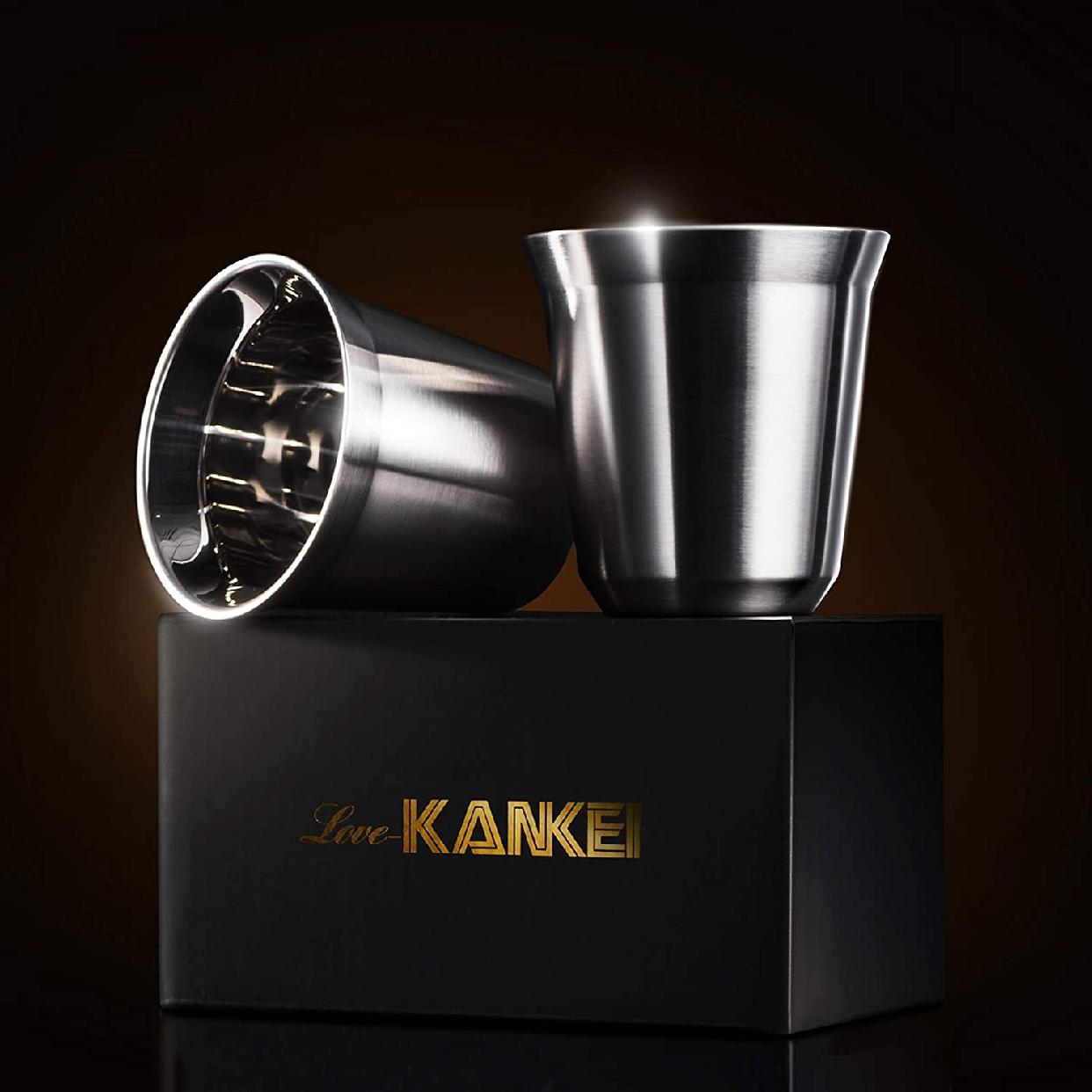 Love-KANKEI エスプレッソカップ ステンレス 2個セットの商品画像7
