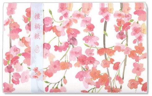 和詩倶楽部(ワシクラブ) 懐柄紙 枝垂れ桜 30枚 KG-058の商品画像