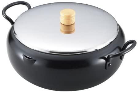 Tamahashi(タマハシ) エポラス イエローライン IH対応両手天ぷら鍋 ブラックの商品画像