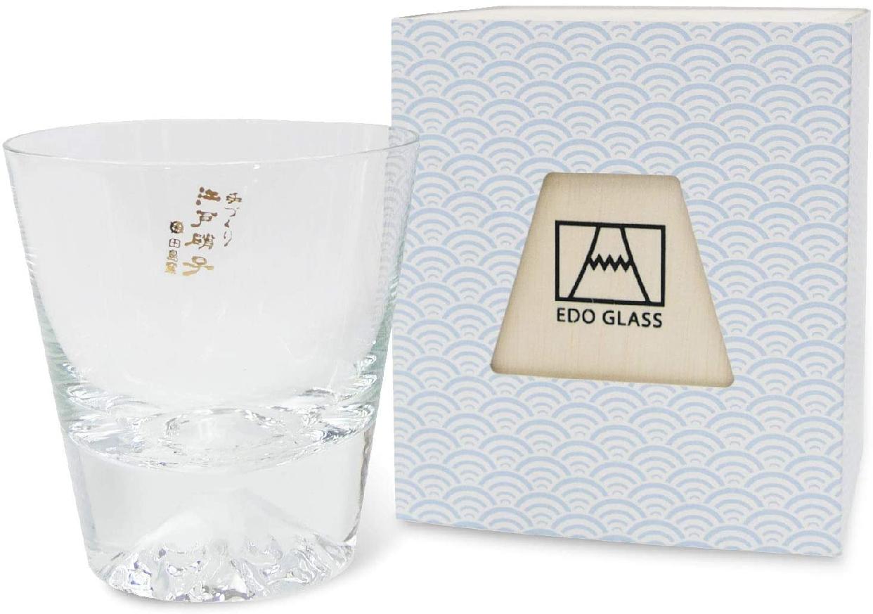 江戸硝子(エドガラス) 富士山グラス ロックグラス 270ml  TG15-015-Rの商品画像