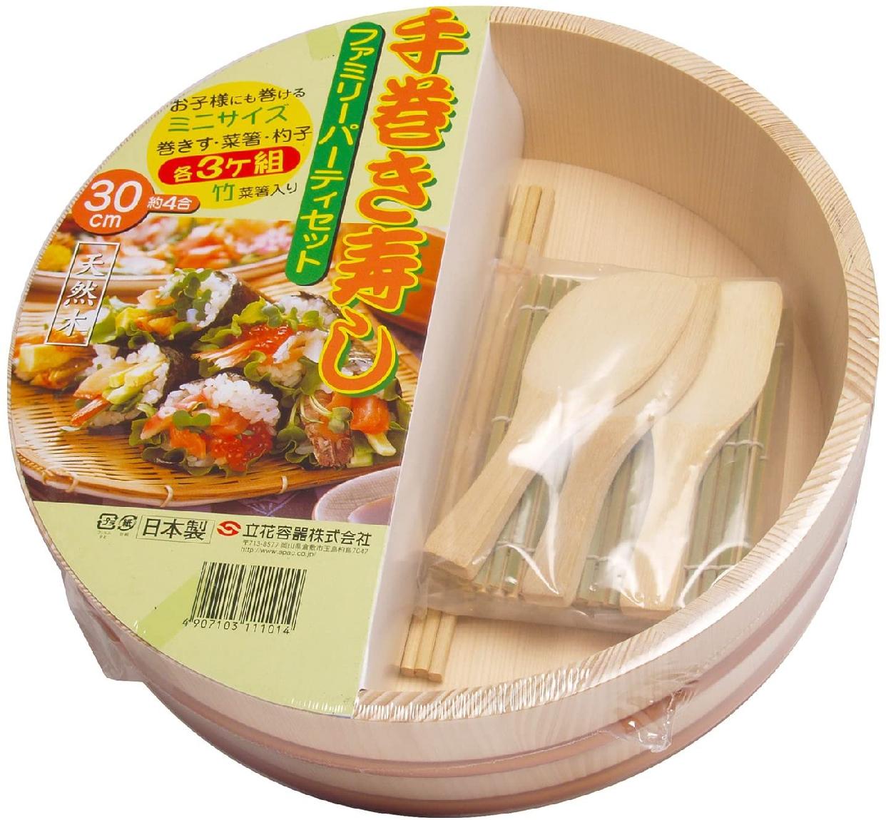 立花容器 寿司桶 手巻き寿司 セット 30cmの商品画像