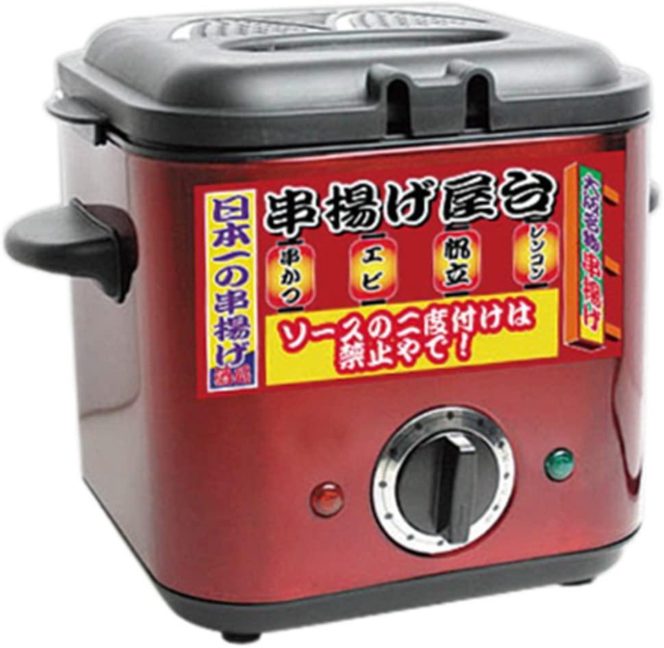 三ッ屋電機(ミツヤデンキ) 家庭用フライヤー MAK-900 串揚げ屋台 レッドの商品画像
