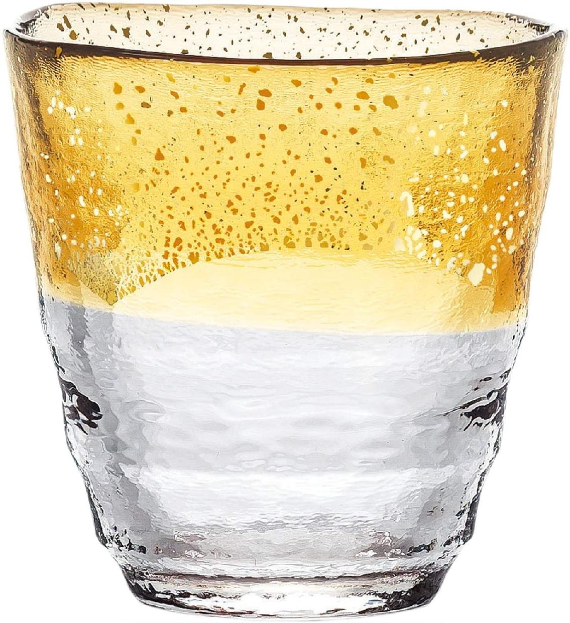 東洋佐々木ガラス お湯わり焼酎ぐらす(琥珀・金箔) 42130TS-G-WGABの商品画像