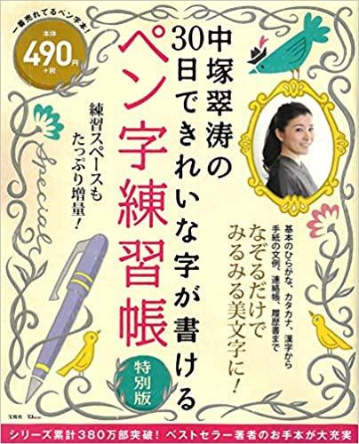 宝島社 中塚翠涛の30日できれいな字が書けるペン字練習帳