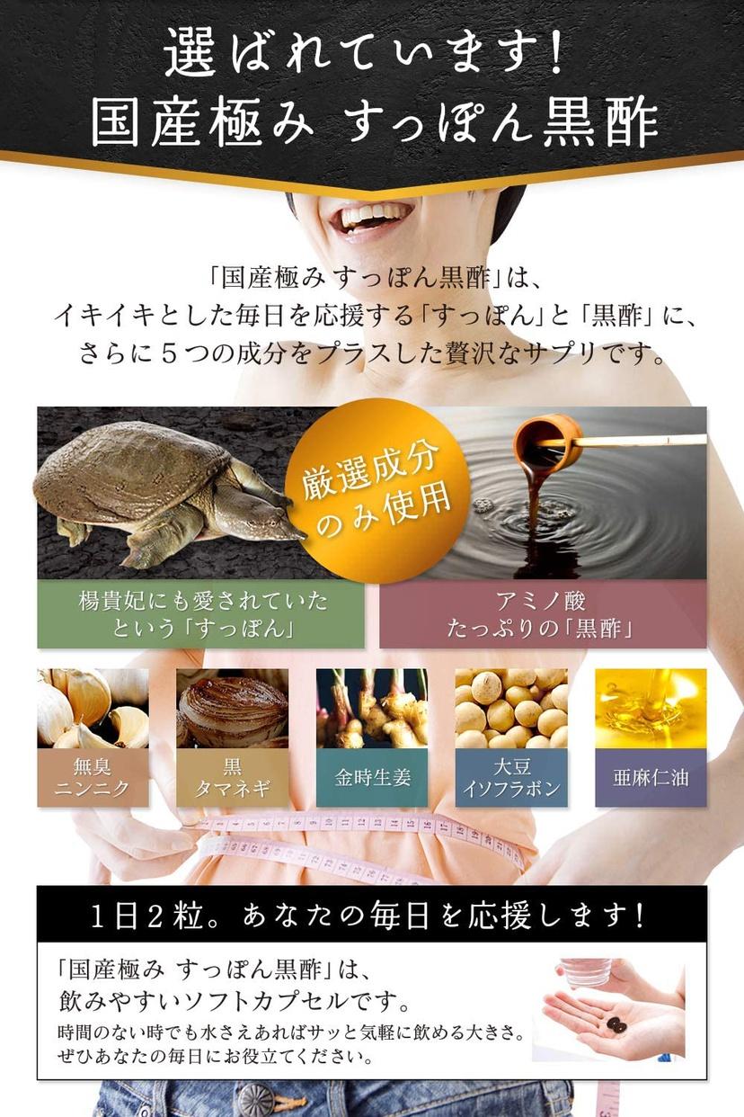 ビクトリーロード 国産極み すっぽん黒酢の商品画像6