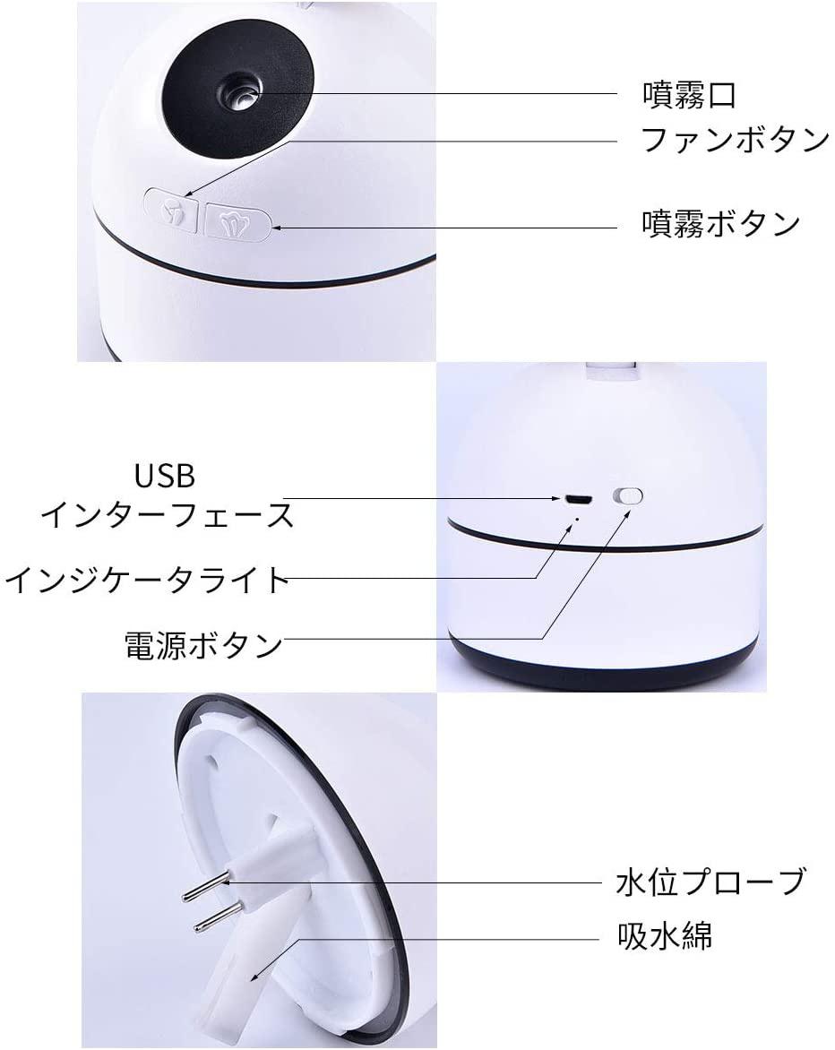 NI-SHEN(ニーシェン) 卓上扇風機 ミストファン加湿機能付きの商品画像4