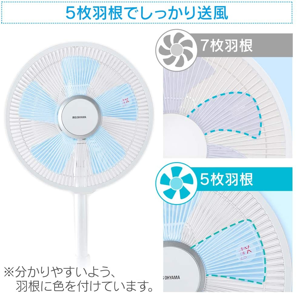 IRIS OHYAMA(アイリスオーヤマ) リビング扇 PF-301RA-Wの商品画像3