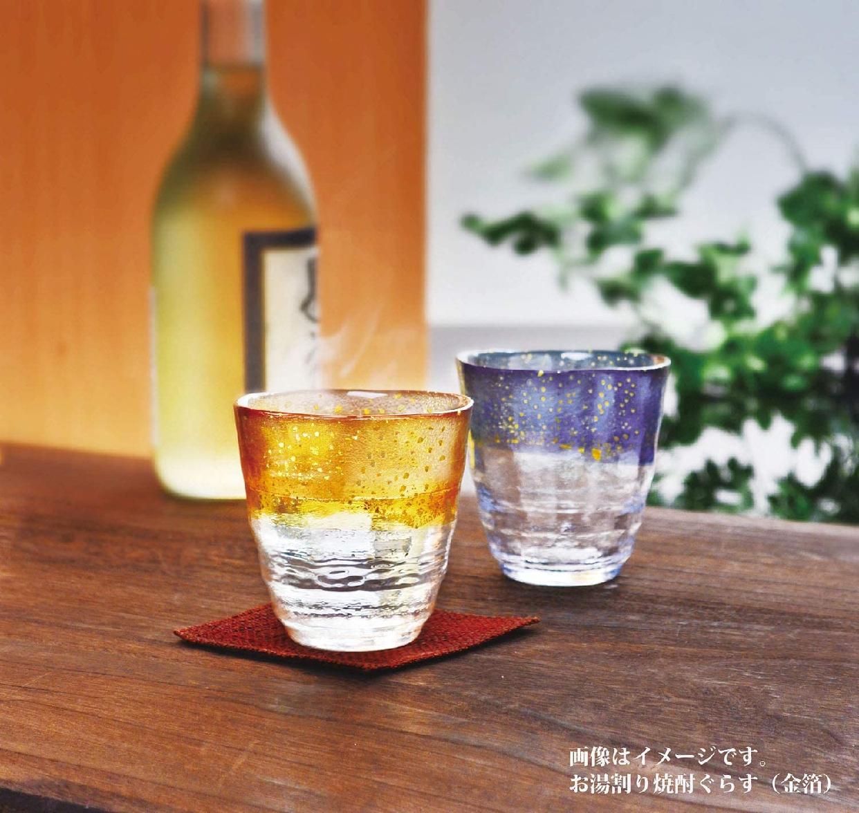 東洋佐々木ガラス(とうようささきがらす)お湯わり焼酎ぐらす(琥珀・金箔) 42130TS-G-WGABの商品画像7