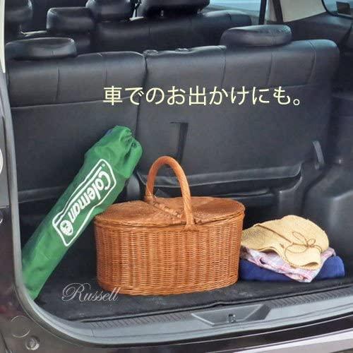 ラッセル籐かご・ラタンバスケット・ピクニック ブラウン 621の商品画像6